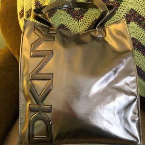 DKNY Metallic Tote